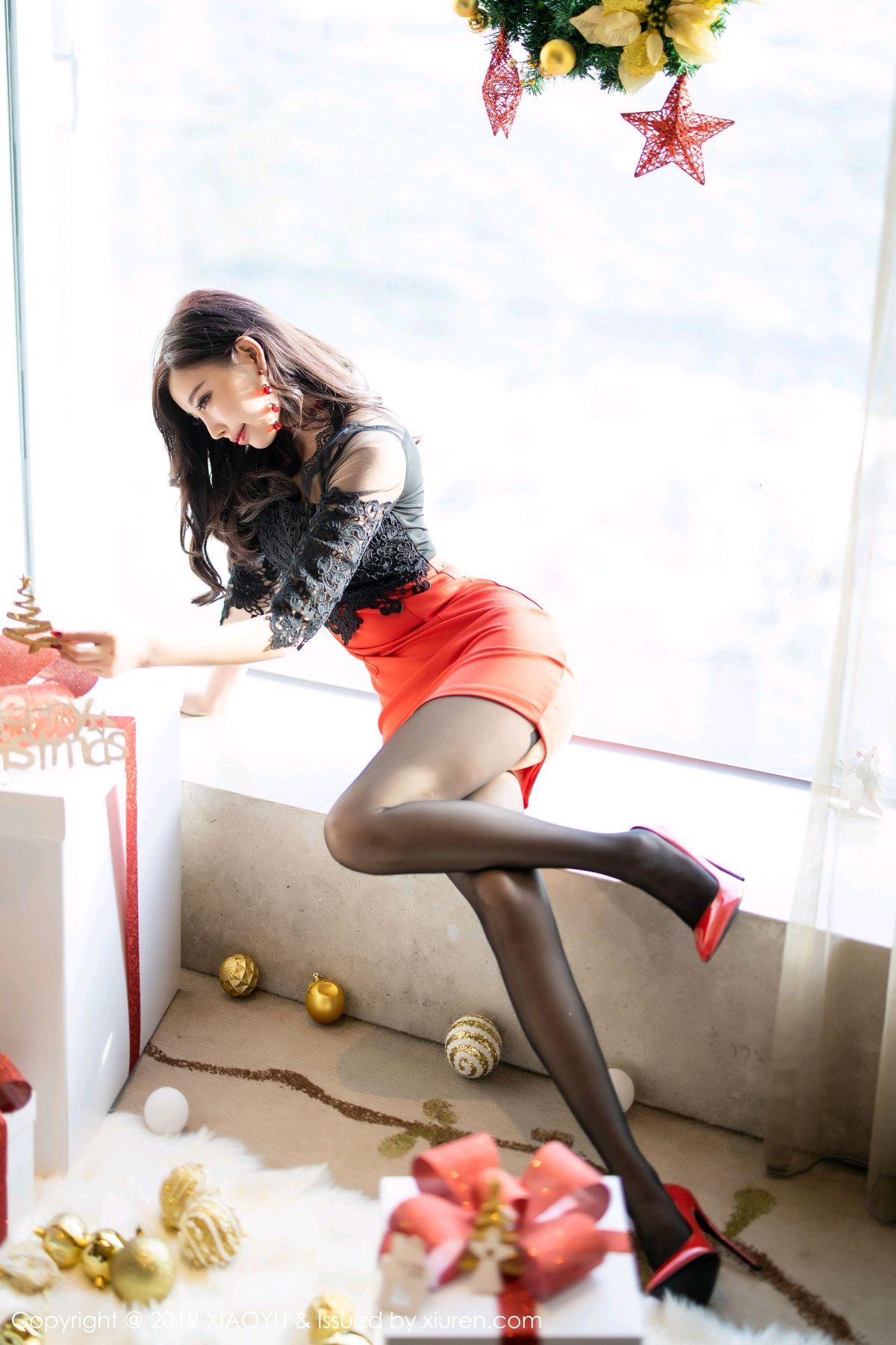 [XiaoYu] Vol.225 Yang Chen Chen 8P, Christmas, Underwear, XiaoYu, Yang Chen Chen