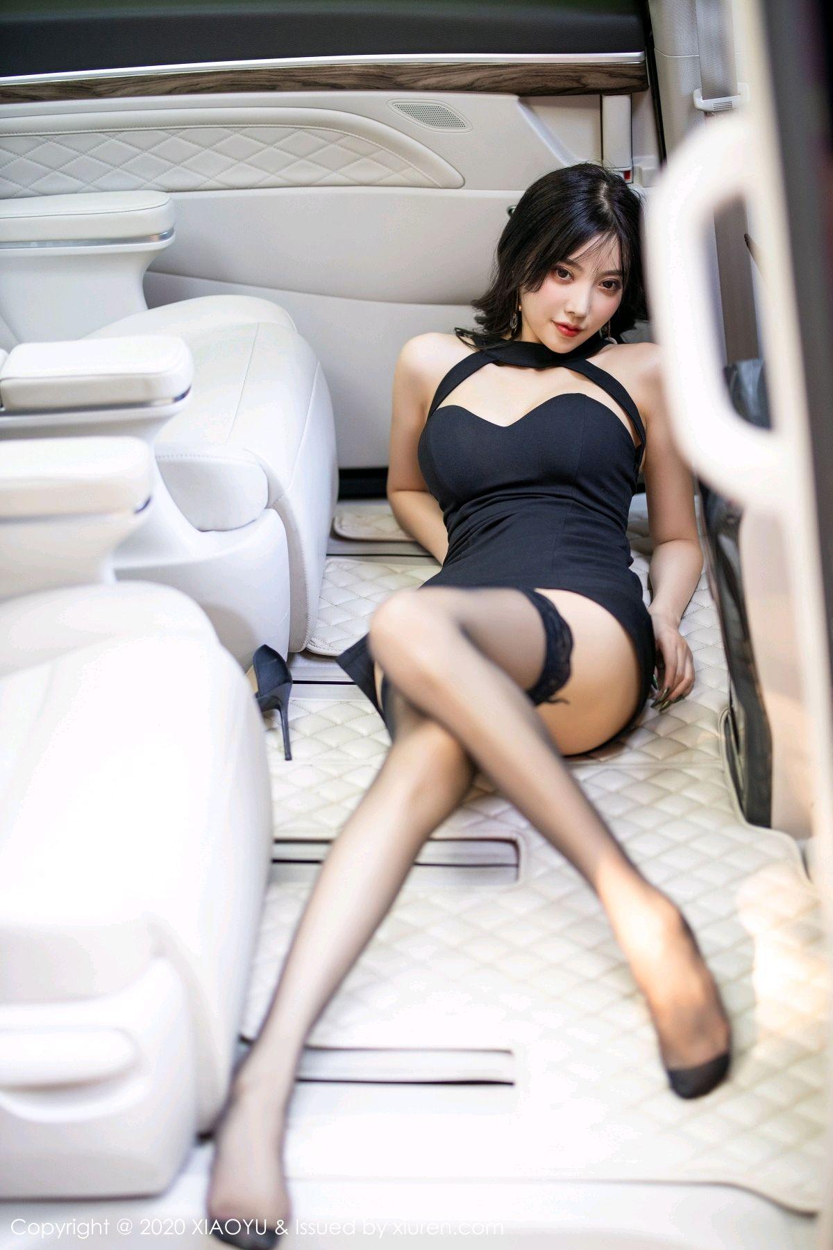 [XiaoYu] Vol.230 Yang Chen Chen 101P, Black Silk, Tall, XiaoYu, Yang Chen Chen