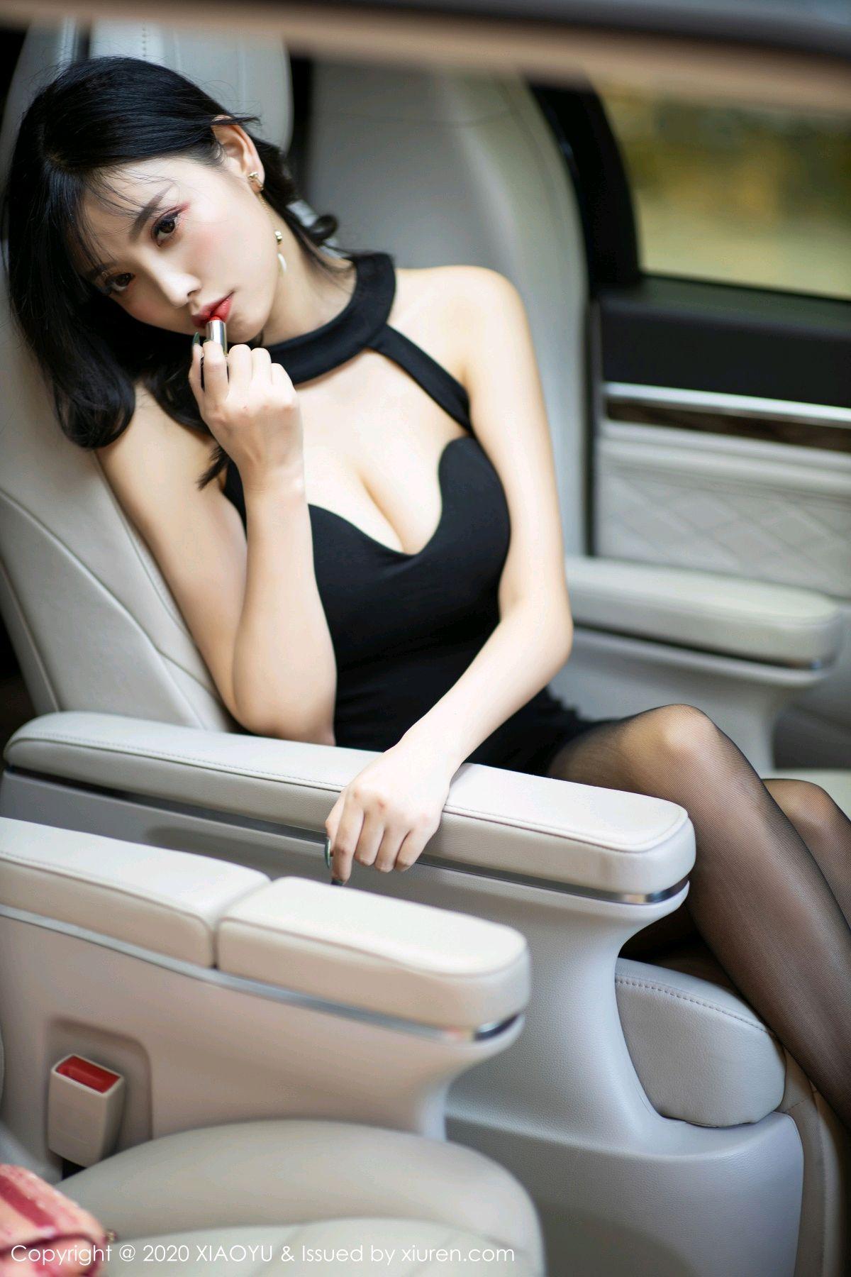 [XiaoYu] Vol.230 Yang Chen Chen 12P, Black Silk, Tall, XiaoYu, Yang Chen Chen