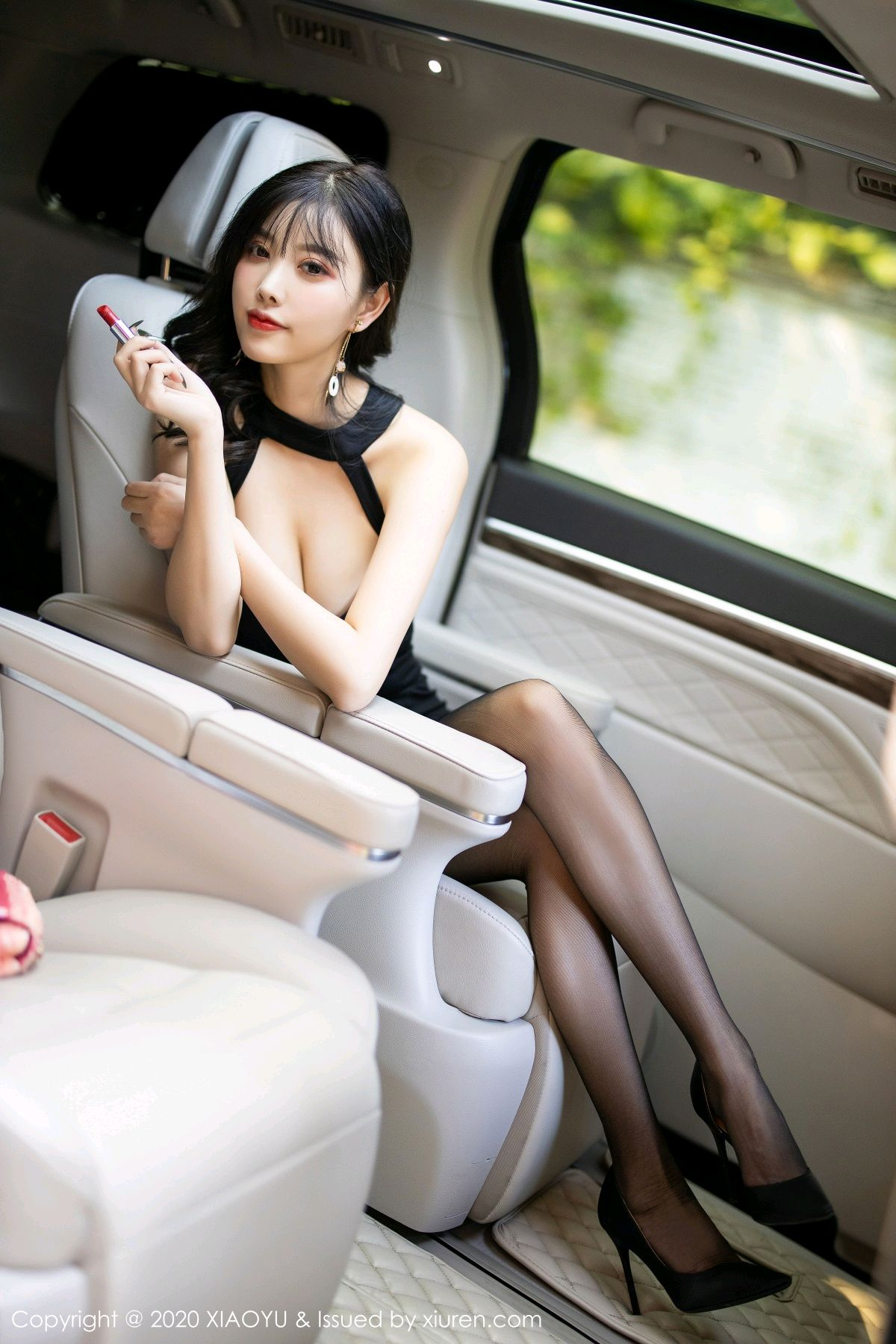 [XiaoYu] Vol.230 Yang Chen Chen 13P, Black Silk, Tall, XiaoYu, Yang Chen Chen