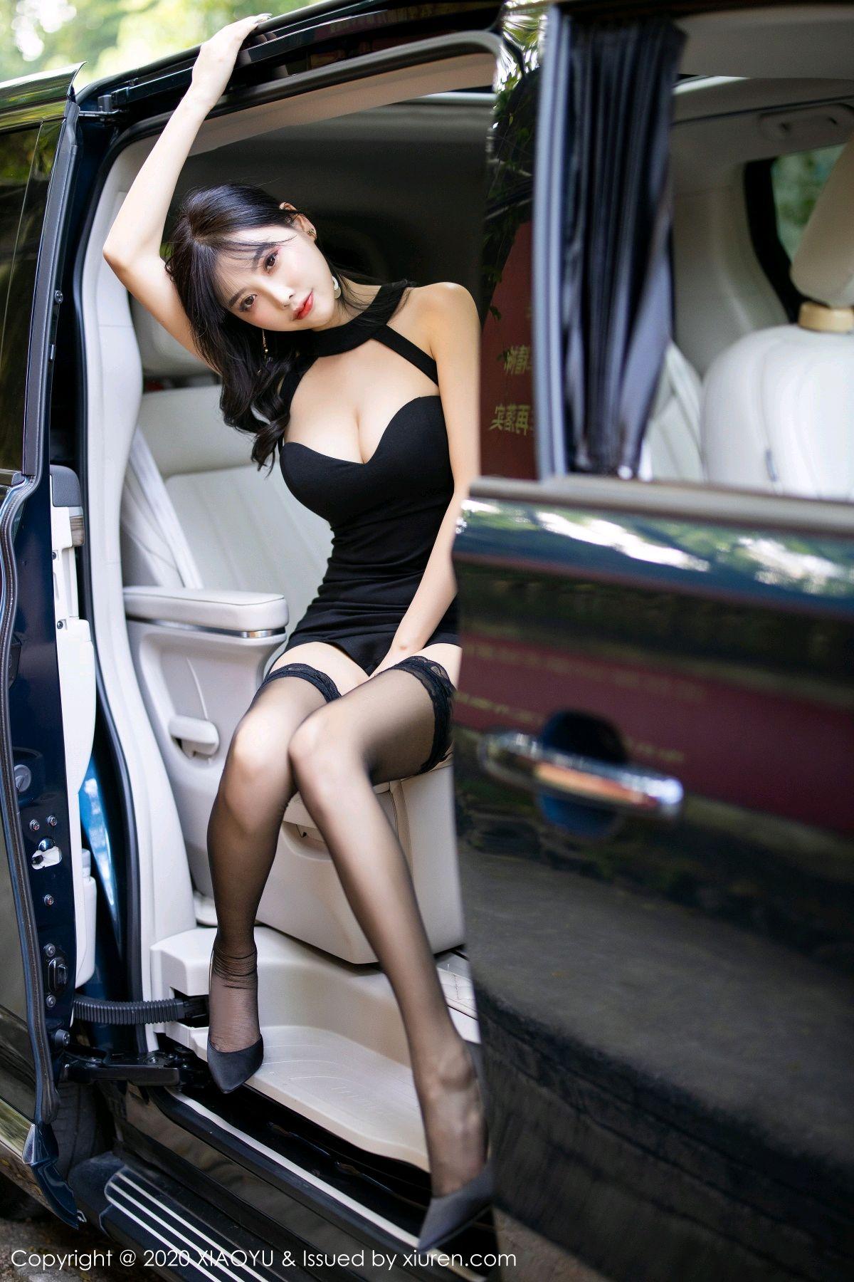 [XiaoYu] Vol.230 Yang Chen Chen 18P, Black Silk, Tall, XiaoYu, Yang Chen Chen
