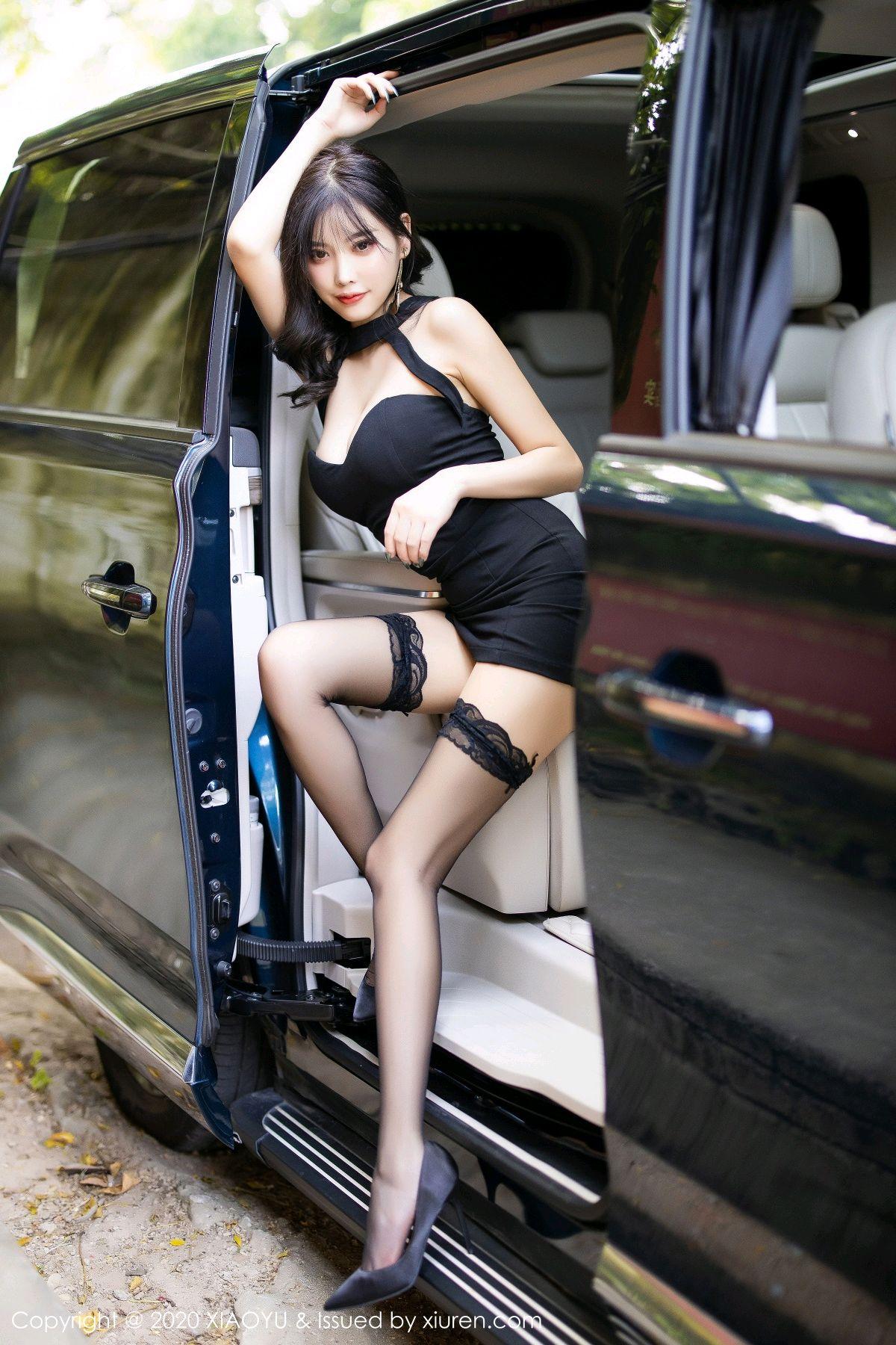 [XiaoYu] Vol.230 Yang Chen Chen 19P, Black Silk, Tall, XiaoYu, Yang Chen Chen