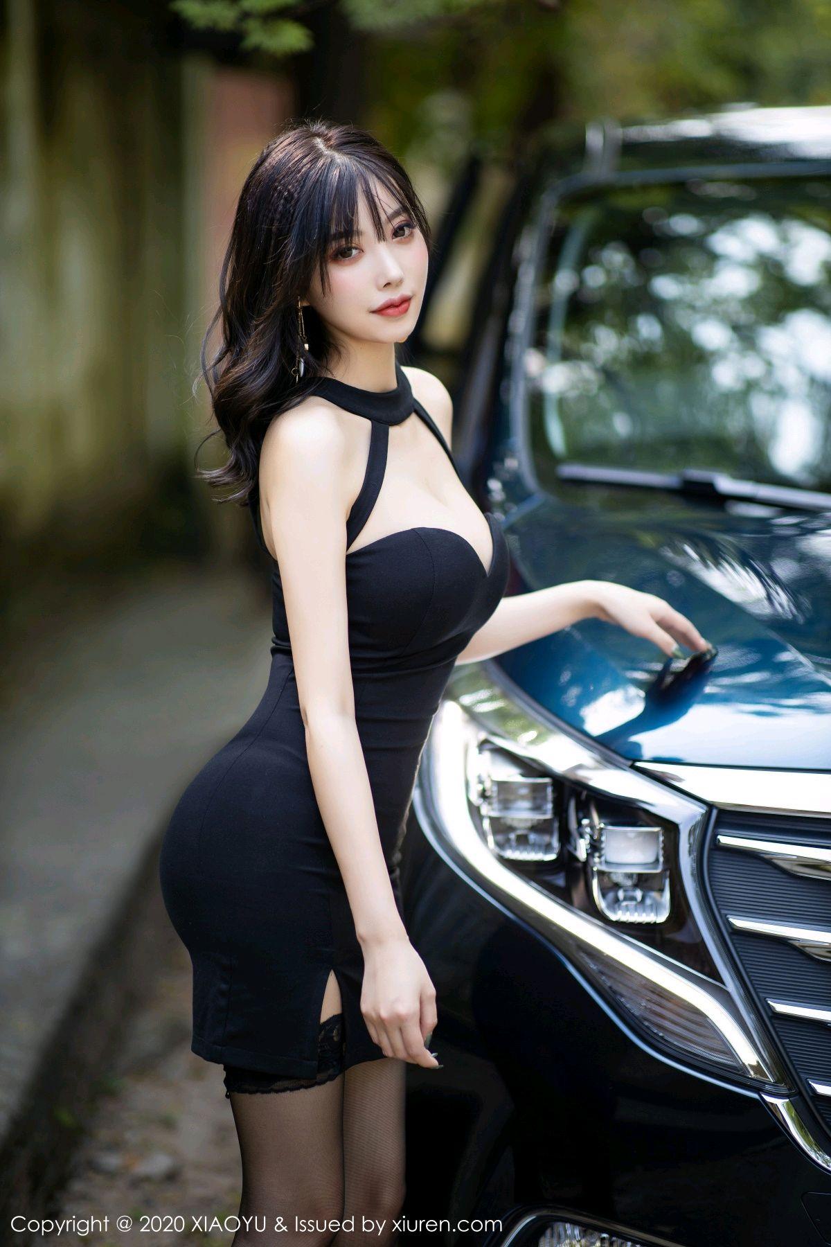 [XiaoYu] Vol.230 Yang Chen Chen 1P, Black Silk, Tall, XiaoYu, Yang Chen Chen