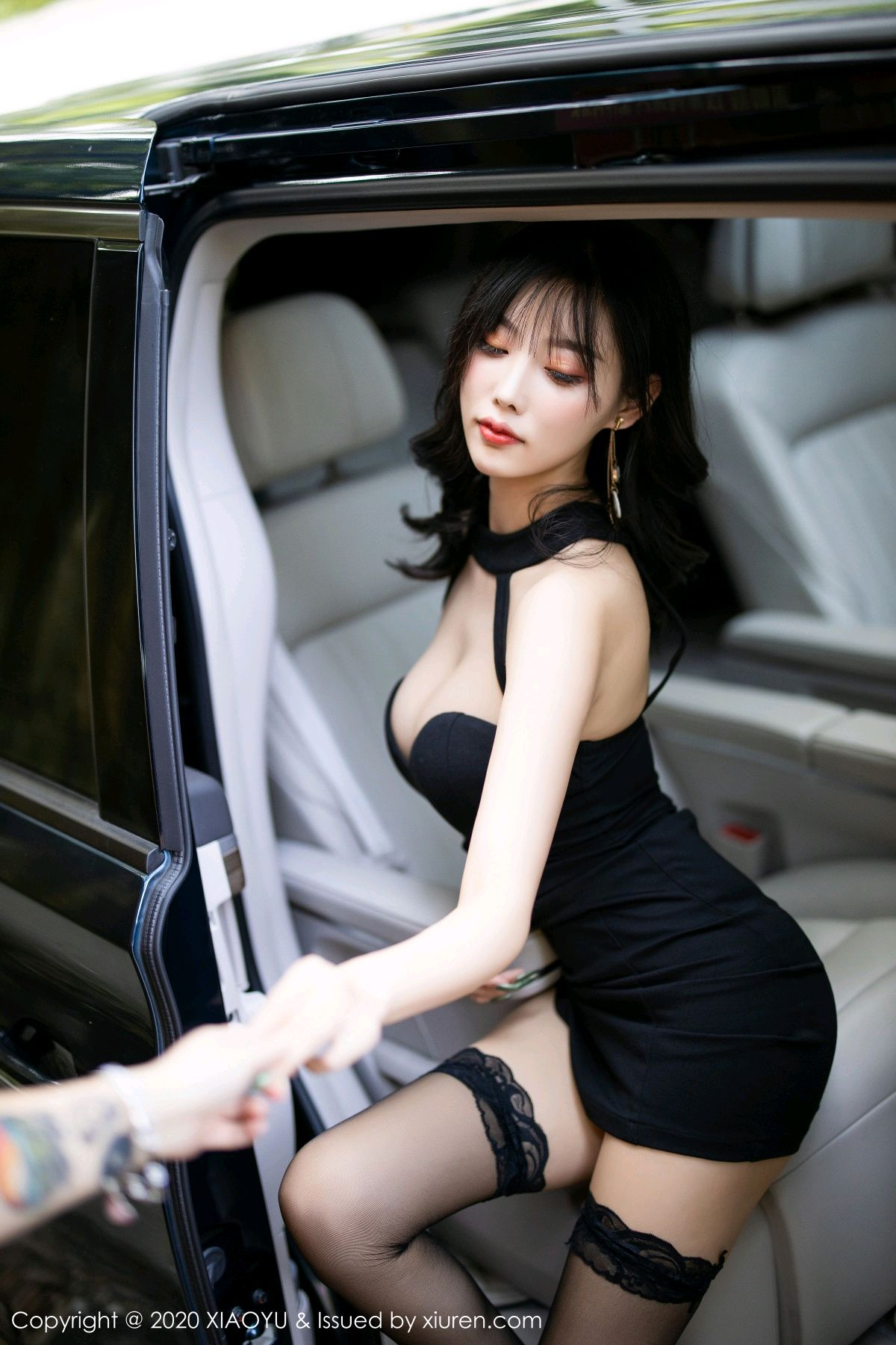 [XiaoYu] Vol.230 Yang Chen Chen 21P, Black Silk, Tall, XiaoYu, Yang Chen Chen