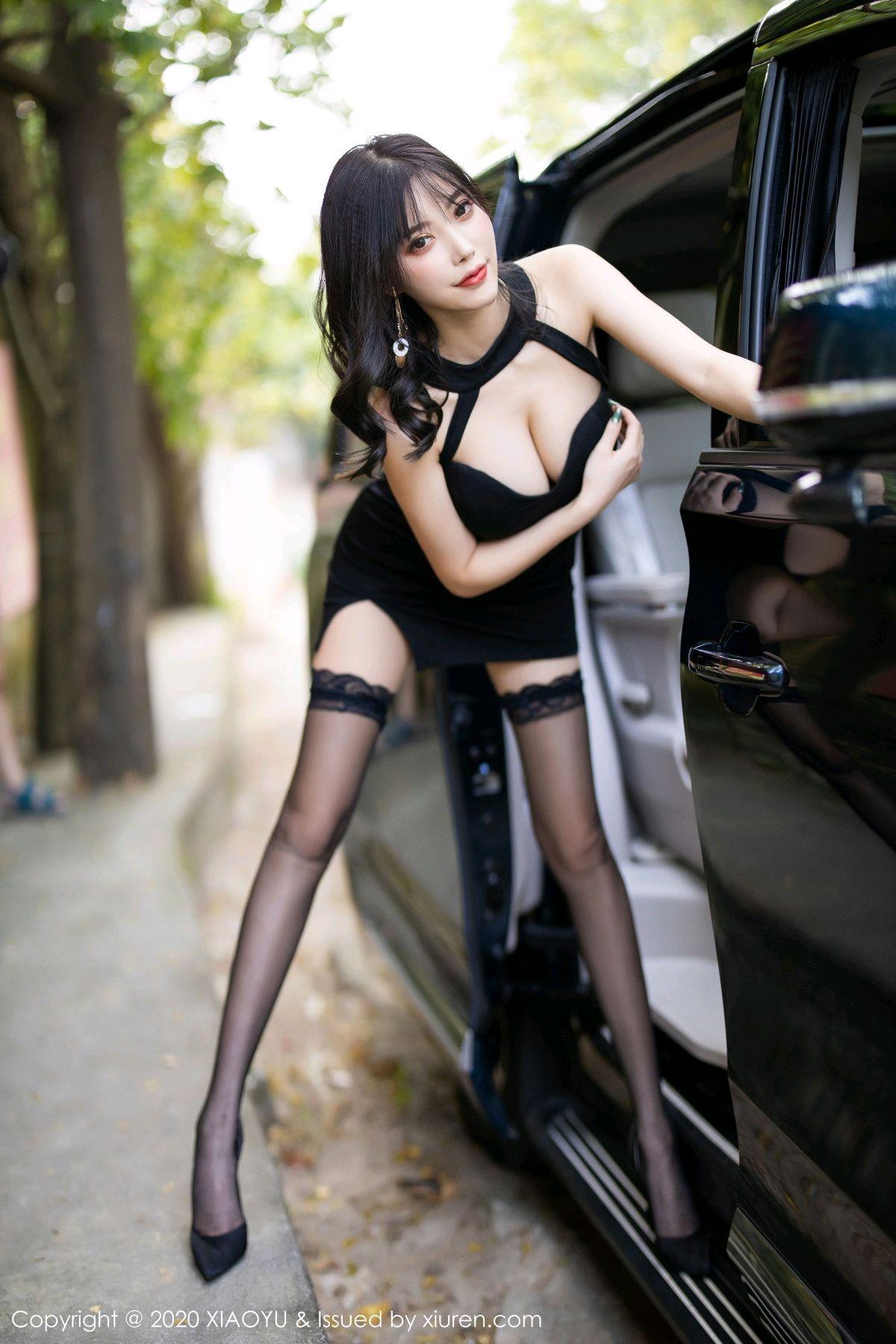 [XiaoYu] Vol.230 Yang Chen Chen 27P, Black Silk, Tall, XiaoYu, Yang Chen Chen