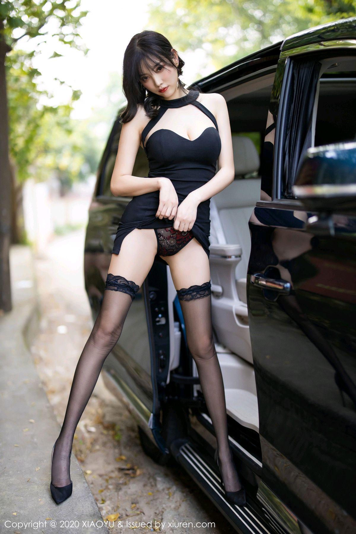 [XiaoYu] Vol.230 Yang Chen Chen 28P, Black Silk, Tall, XiaoYu, Yang Chen Chen