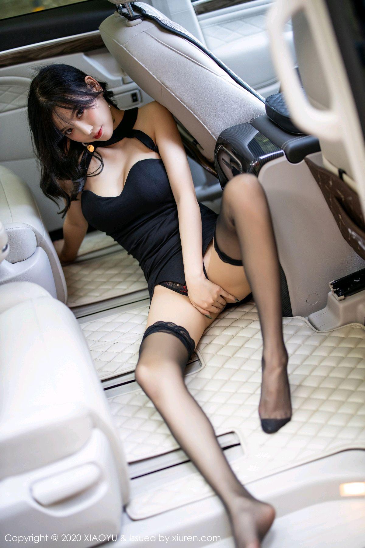 [XiaoYu] Vol.230 Yang Chen Chen 46P, Black Silk, Tall, XiaoYu, Yang Chen Chen