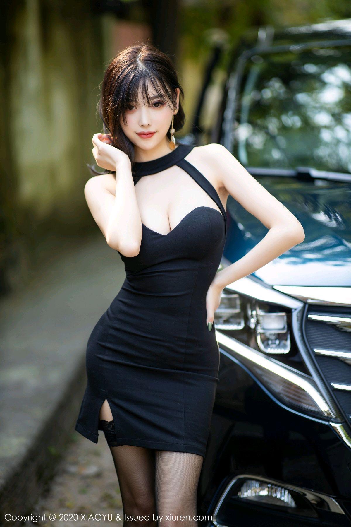 [XiaoYu] Vol.230 Yang Chen Chen 4P, Black Silk, Tall, XiaoYu, Yang Chen Chen