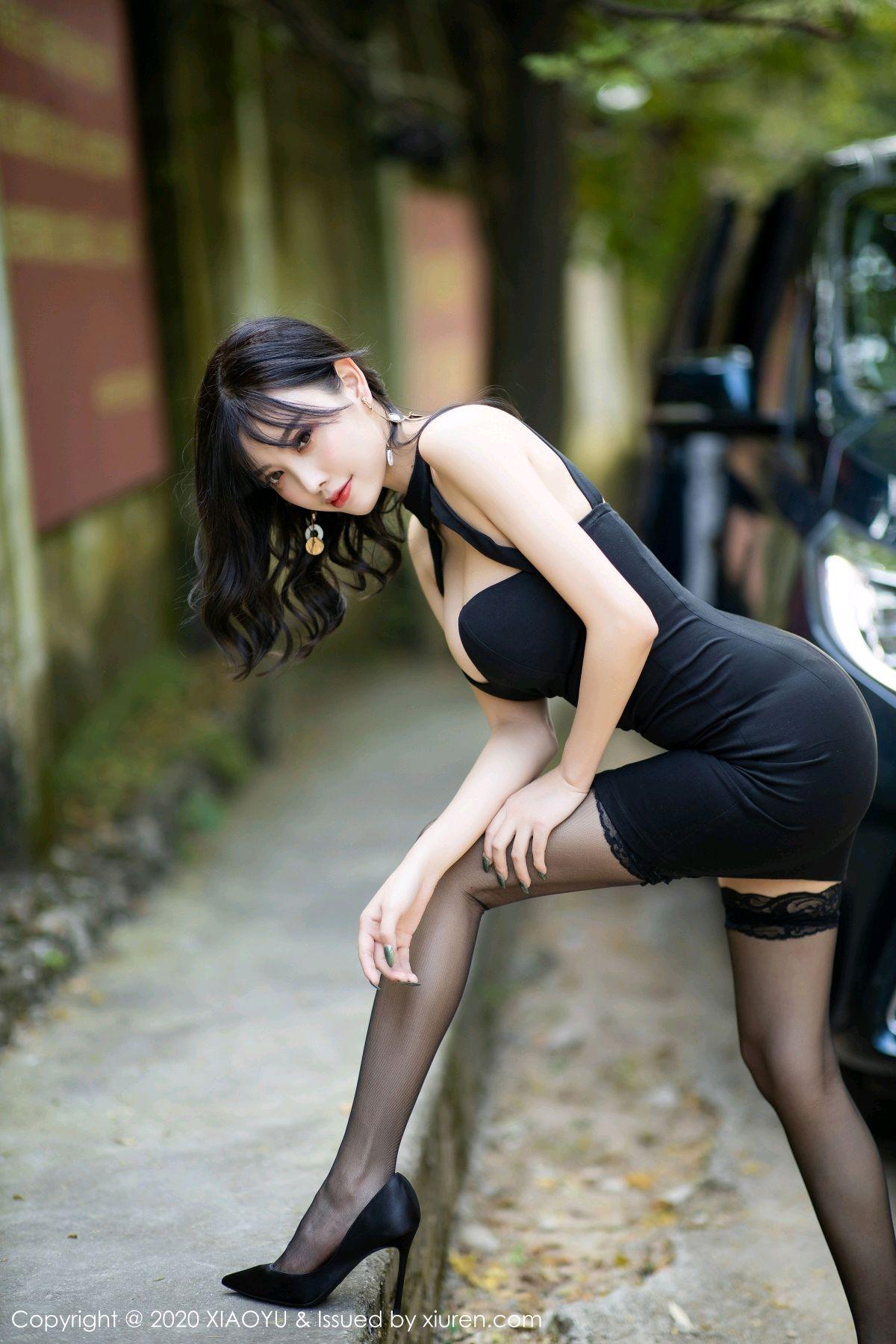 [XiaoYu] Vol.230 Yang Chen Chen 5P, Black Silk, Tall, XiaoYu, Yang Chen Chen