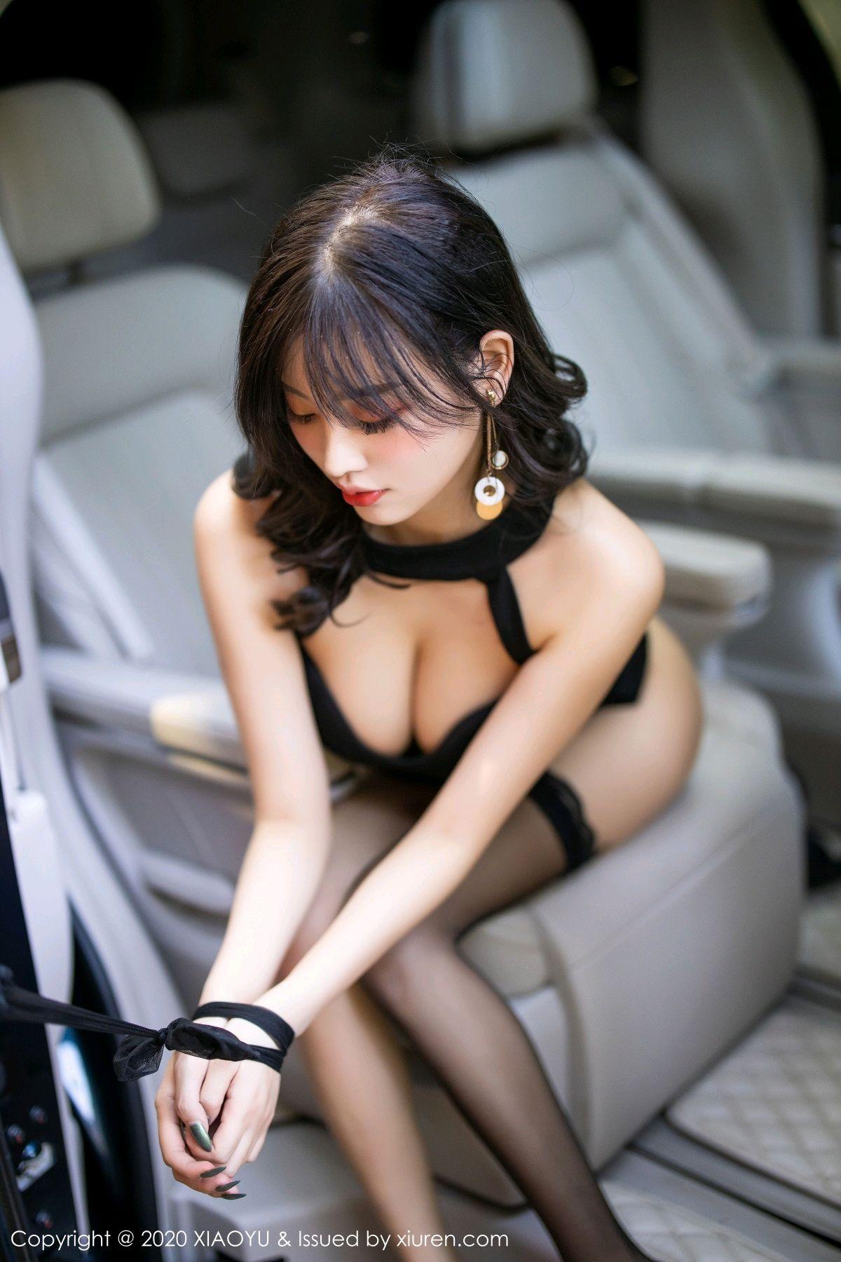 [XiaoYu] Vol.230 Yang Chen Chen 83P, Black Silk, Tall, XiaoYu, Yang Chen Chen