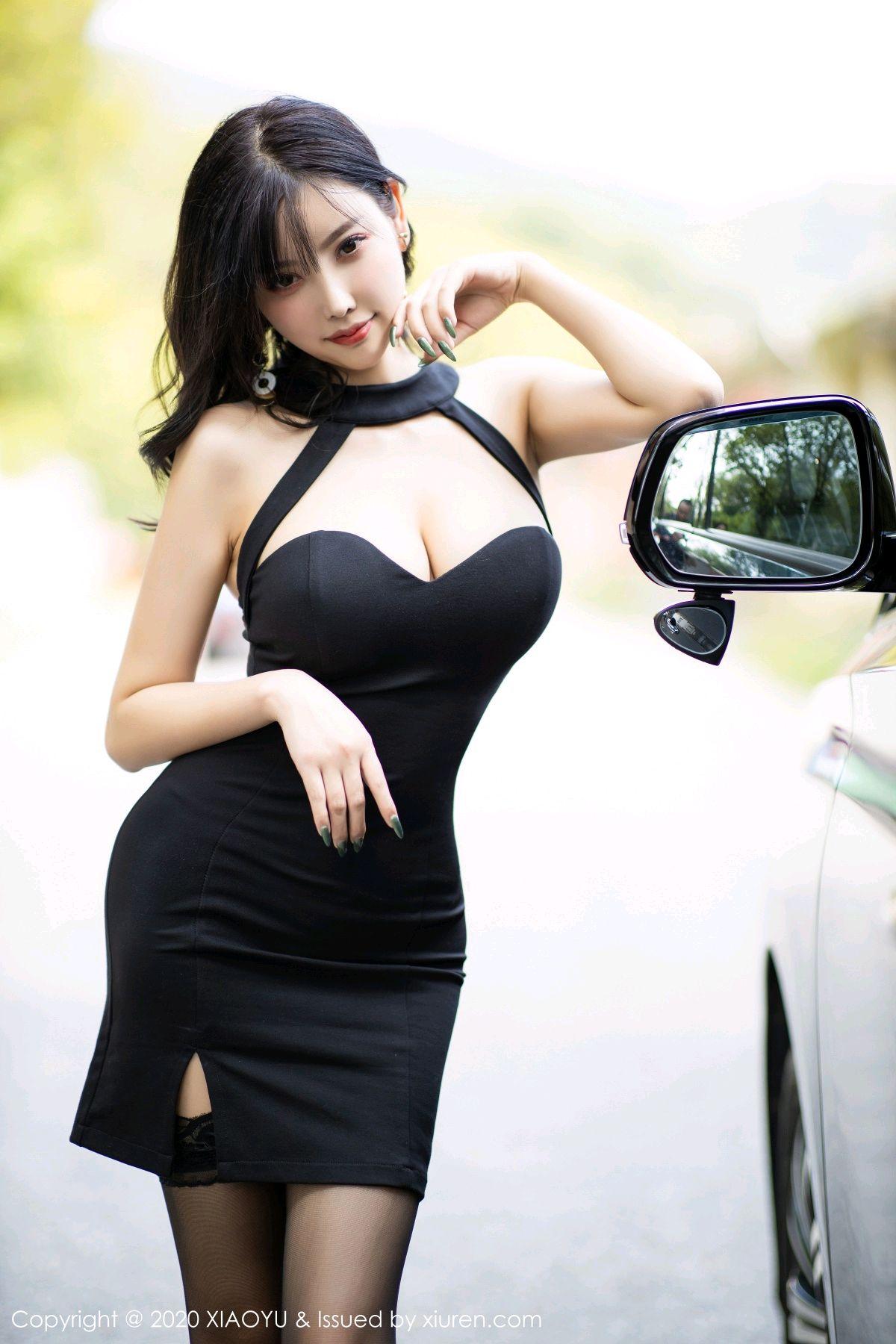 [XiaoYu] Vol.230 Yang Chen Chen 9P, Black Silk, Tall, XiaoYu, Yang Chen Chen