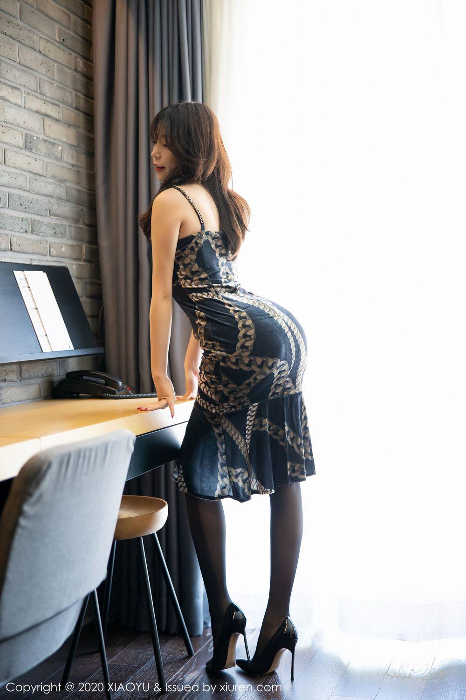 [XiaoYu] Vol.232 Chen Zhi 3P, Big Booty, Black Silk, Chen Zhi, XiaoYu