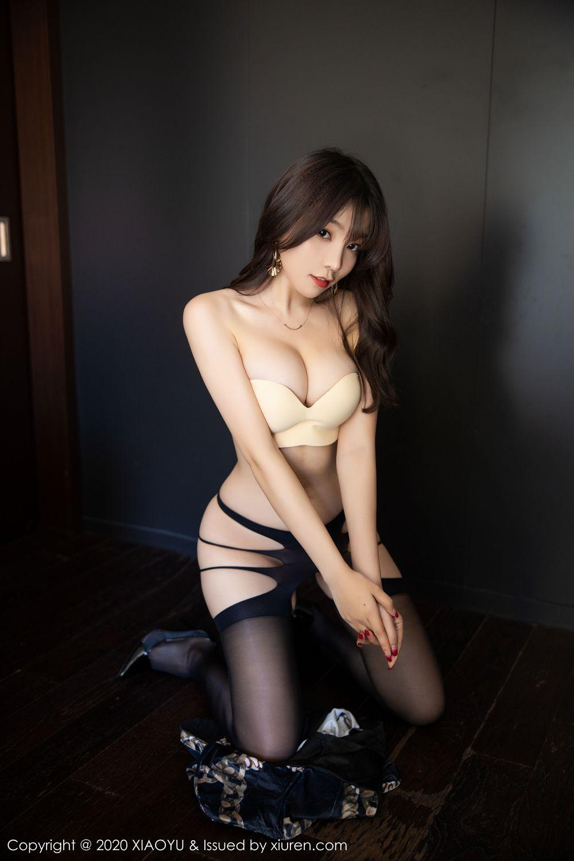 [XiaoYu] Vol.232 Chen Zhi 55P, Big Booty, Black Silk, Chen Zhi, XiaoYu