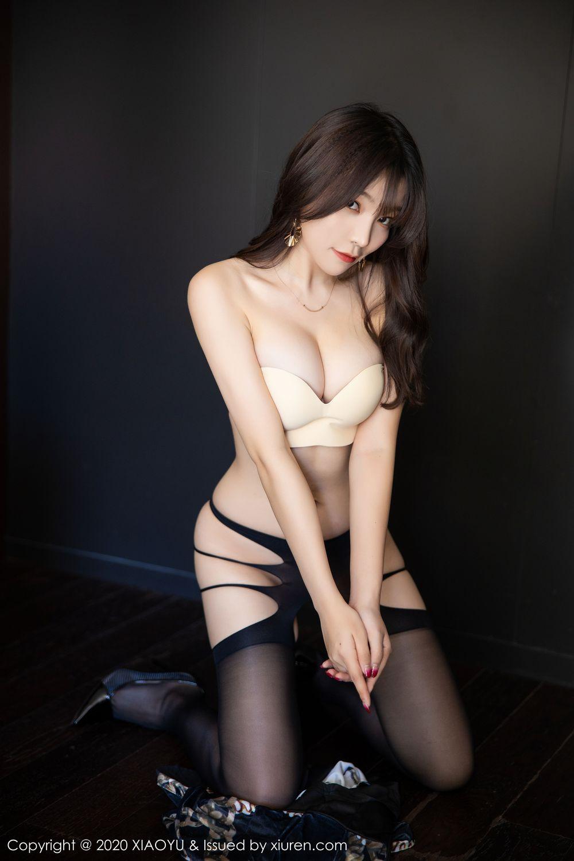 [XiaoYu] Vol.232 Chen Zhi 56P, Big Booty, Black Silk, Chen Zhi, XiaoYu