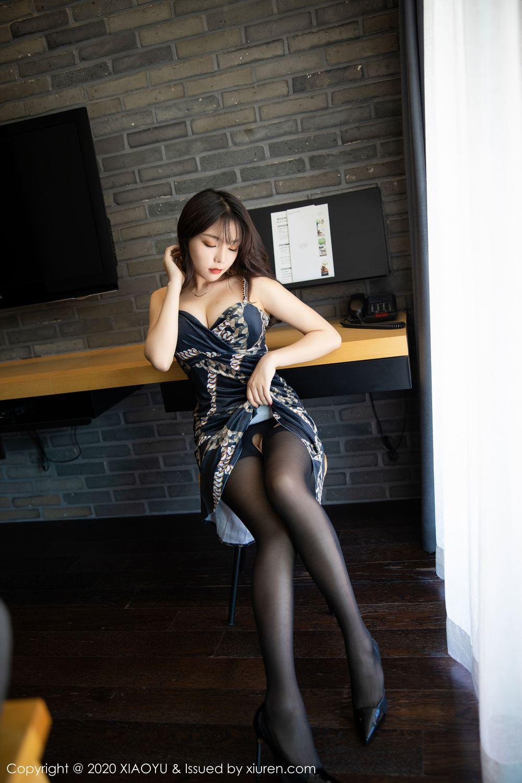 [XiaoYu] Vol.232 Chen Zhi 7P, Big Booty, Black Silk, Chen Zhi, XiaoYu