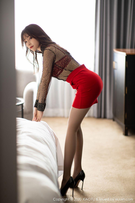 [XiaoYu] Vol.245 Chen Zhi 10P, Big Booty, Black Silk, Chen Zhi, XiaoYu