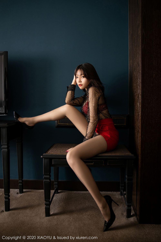 [XiaoYu] Vol.245 Chen Zhi 1P, Big Booty, Black Silk, Chen Zhi, XiaoYu