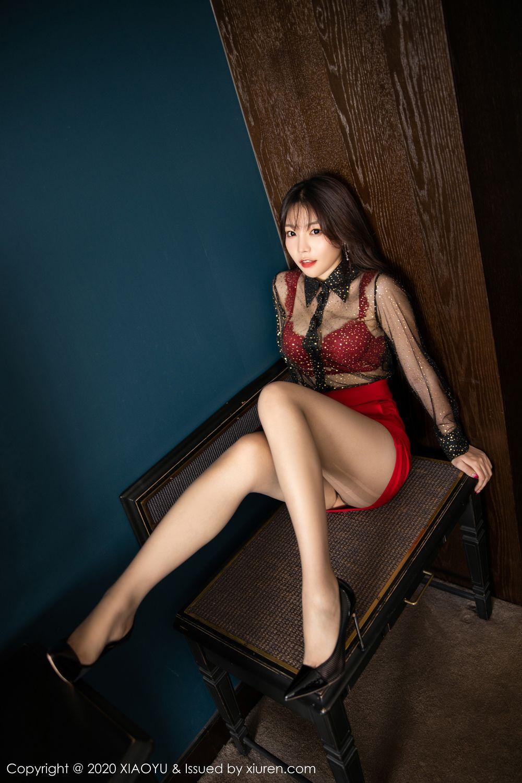 [XiaoYu] Vol.245 Chen Zhi 21P, Big Booty, Black Silk, Chen Zhi, XiaoYu