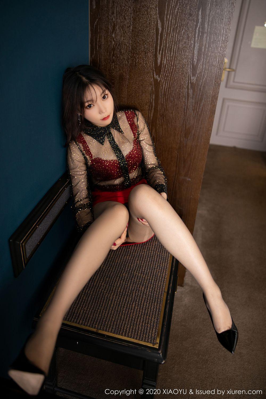 [XiaoYu] Vol.245 Chen Zhi 24P, Big Booty, Black Silk, Chen Zhi, XiaoYu