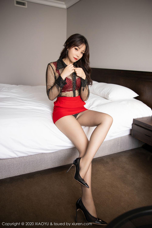 [XiaoYu] Vol.245 Chen Zhi 28P, Big Booty, Black Silk, Chen Zhi, XiaoYu
