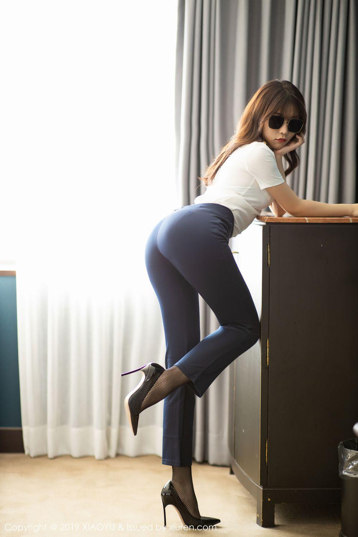 [XiaoYu] Vol.246 Zhi Zhi Booty 10P, Black Silk, Chen Zhi, Stewardess, Underwear, XiaoYu