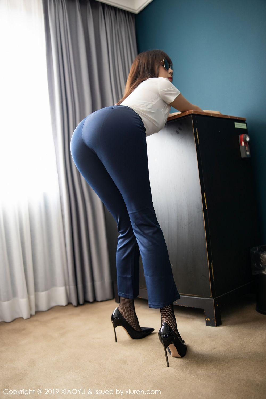 [XiaoYu] Vol.246 Zhi Zhi Booty 15P, Black Silk, Chen Zhi, Stewardess, Underwear, XiaoYu
