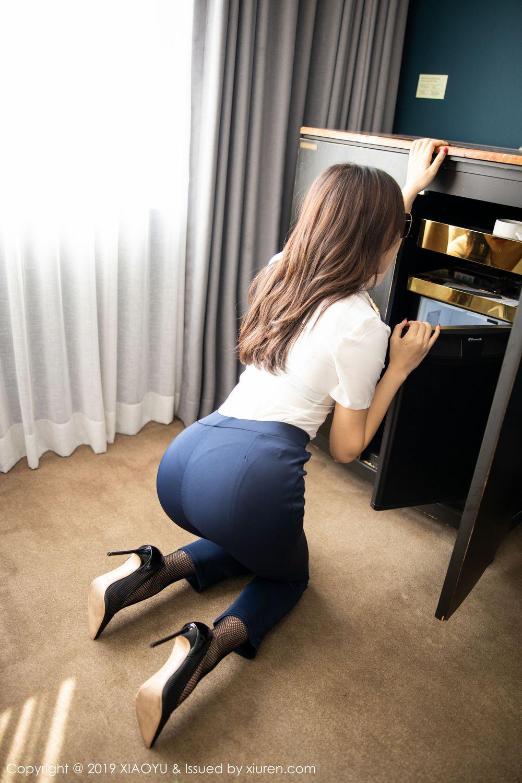[XiaoYu] Vol.246 Zhi Zhi Booty 17P, Black Silk, Chen Zhi, Stewardess, Underwear, XiaoYu