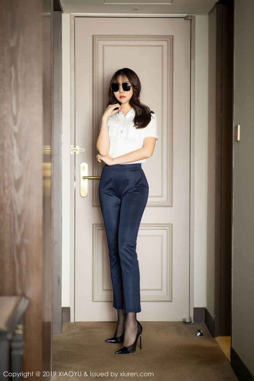 [XiaoYu] Vol.246 Zhi Zhi Booty 1P, Black Silk, Chen Zhi, Stewardess, Underwear, XiaoYu