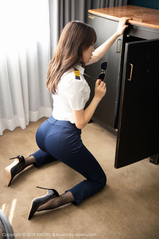 [XiaoYu] Vol.246 Zhi Zhi Booty 25P, Black Silk, Chen Zhi, Stewardess, Underwear, XiaoYu