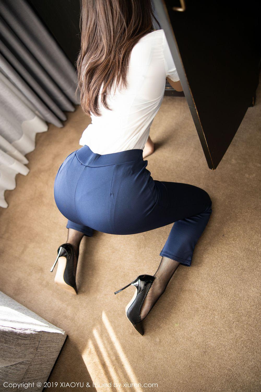 [XiaoYu] Vol.246 Zhi Zhi Booty 28P, Black Silk, Chen Zhi, Stewardess, Underwear, XiaoYu