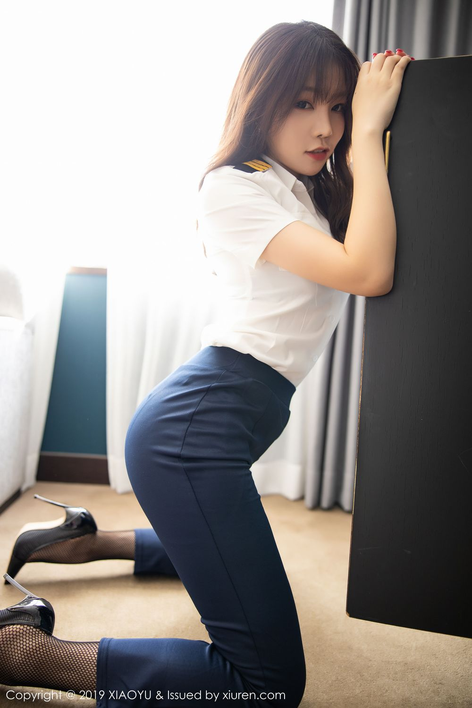 [XiaoYu] Vol.246 Zhi Zhi Booty 30P, Black Silk, Chen Zhi, Stewardess, Underwear, XiaoYu
