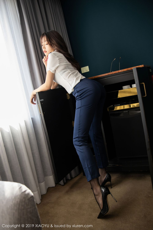 [XiaoYu] Vol.246 Zhi Zhi Booty 36P, Black Silk, Chen Zhi, Stewardess, Underwear, XiaoYu