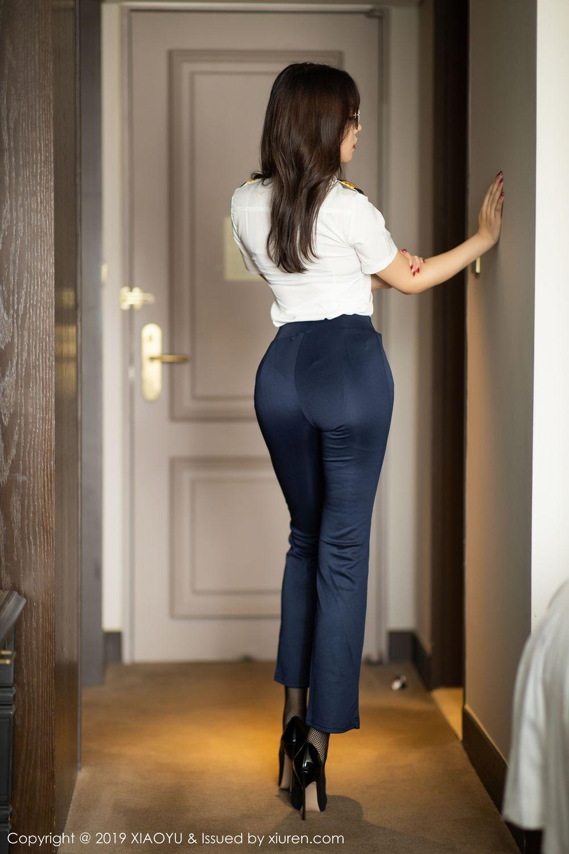 [XiaoYu] Vol.246 Zhi Zhi Booty 3P, Black Silk, Chen Zhi, Stewardess, Underwear, XiaoYu