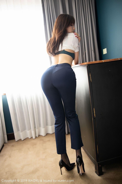 [XiaoYu] Vol.246 Zhi Zhi Booty 40P, Black Silk, Chen Zhi, Stewardess, Underwear, XiaoYu