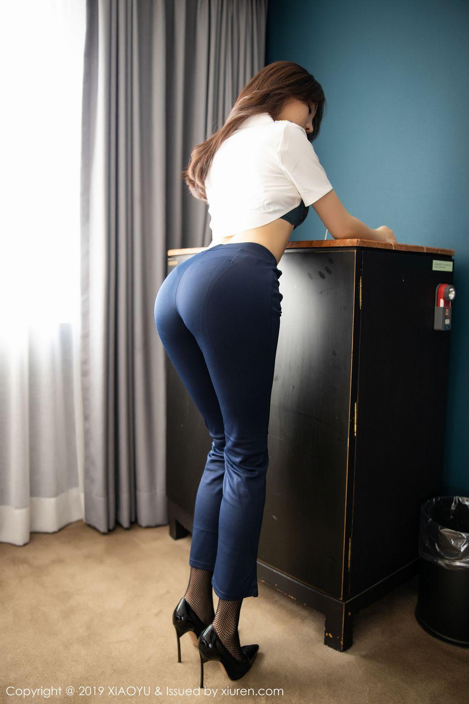 [XiaoYu] Vol.246 Zhi Zhi Booty 41P, Black Silk, Chen Zhi, Stewardess, Underwear, XiaoYu