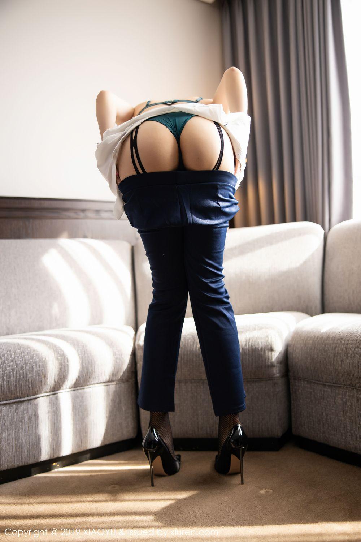 [XiaoYu] Vol.246 Zhi Zhi Booty 54P, Black Silk, Chen Zhi, Stewardess, Underwear, XiaoYu