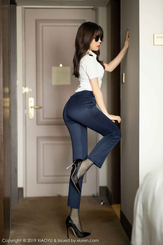 [XiaoYu] Vol.246 Zhi Zhi Booty 5P, Black Silk, Chen Zhi, Stewardess, Underwear, XiaoYu