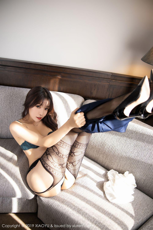 [XiaoYu] Vol.246 Zhi Zhi Booty 64P, Black Silk, Chen Zhi, Stewardess, Underwear, XiaoYu