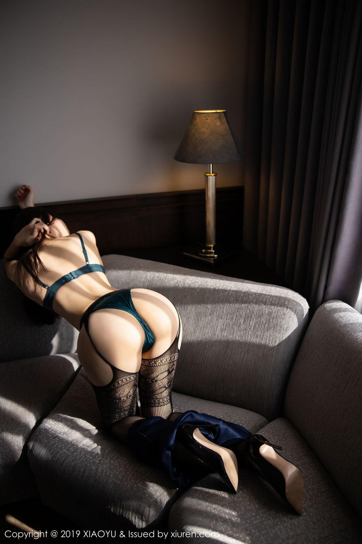 [XiaoYu] Vol.246 Zhi Zhi Booty 68P, Black Silk, Chen Zhi, Stewardess, Underwear, XiaoYu