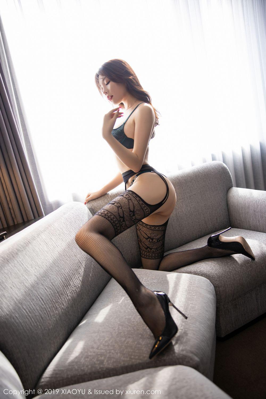 [XiaoYu] Vol.246 Zhi Zhi Booty 69P, Black Silk, Chen Zhi, Stewardess, Underwear, XiaoYu