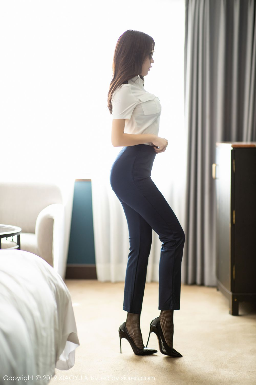 [XiaoYu] Vol.246 Zhi Zhi Booty 6P, Black Silk, Chen Zhi, Stewardess, Underwear, XiaoYu