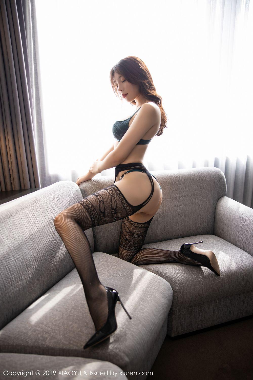 [XiaoYu] Vol.246 Zhi Zhi Booty 70P, Black Silk, Chen Zhi, Stewardess, Underwear, XiaoYu