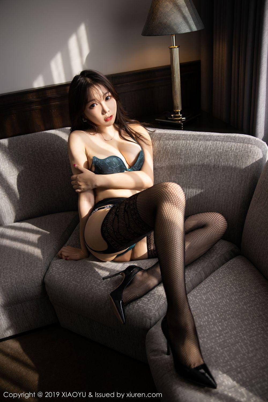 [XiaoYu] Vol.246 Zhi Zhi Booty 78P, Black Silk, Chen Zhi, Stewardess, Underwear, XiaoYu