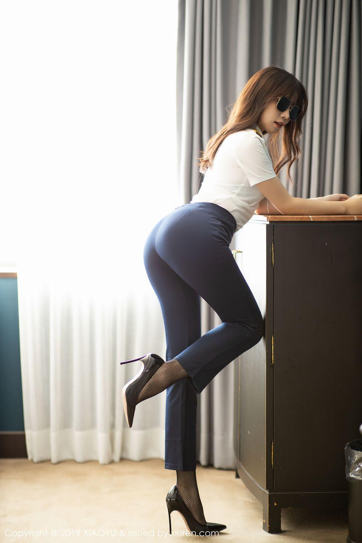 [XiaoYu] Vol.246 Zhi Zhi Booty 9P, Black Silk, Chen Zhi, Stewardess, Underwear, XiaoYu