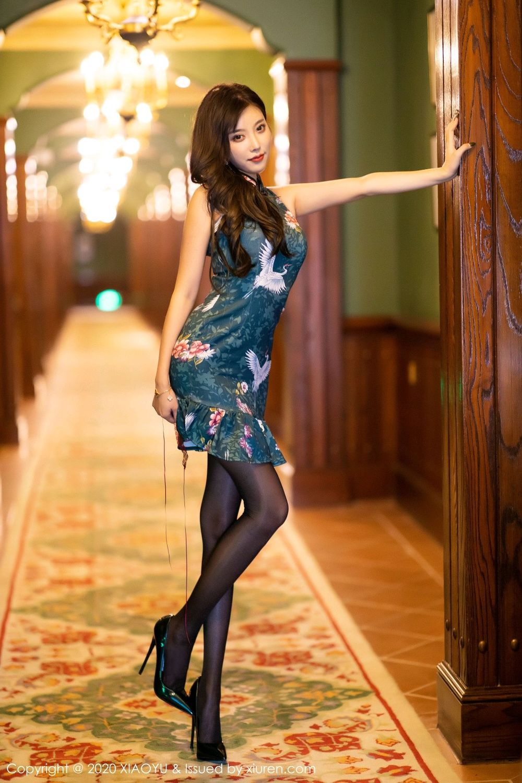 [XiaoYu] Vol.247 Yang Chen Chen 15P, Black Silk, Cheongsam, XiaoYu, Yang Chen Chen