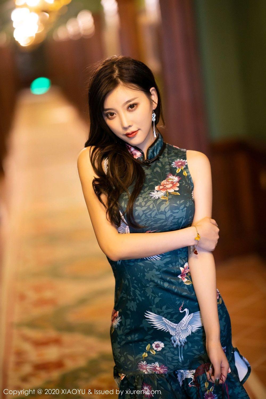 [XiaoYu] Vol.247 Yang Chen Chen 16P, Black Silk, Cheongsam, XiaoYu, Yang Chen Chen