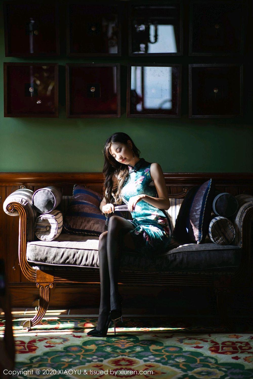 [XiaoYu] Vol.247 Yang Chen Chen 21P, Black Silk, Cheongsam, XiaoYu, Yang Chen Chen