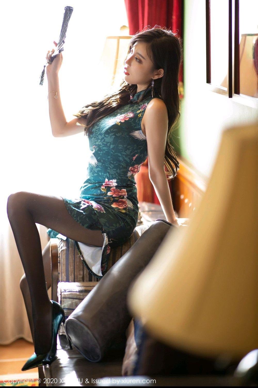 [XiaoYu] Vol.247 Yang Chen Chen 25P, Black Silk, Cheongsam, XiaoYu, Yang Chen Chen