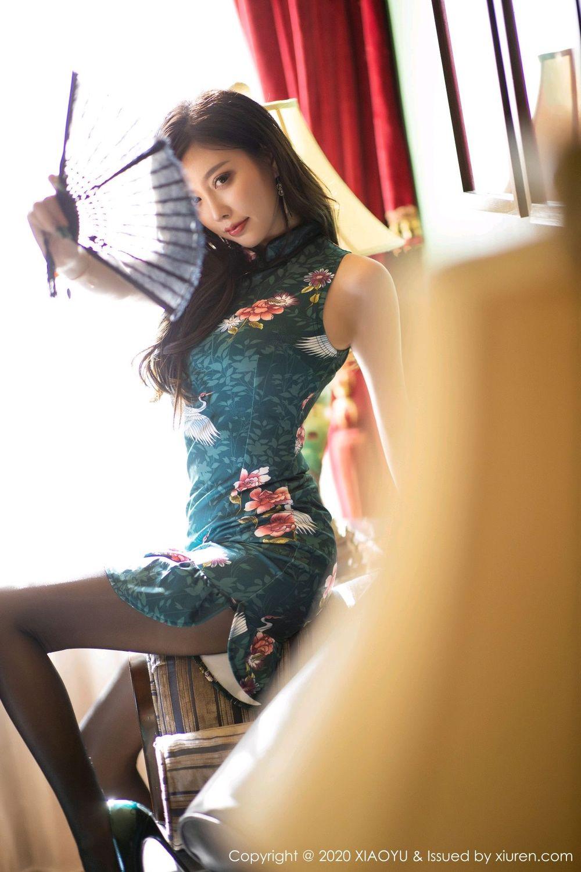 [XiaoYu] Vol.247 Yang Chen Chen 26P, Black Silk, Cheongsam, XiaoYu, Yang Chen Chen