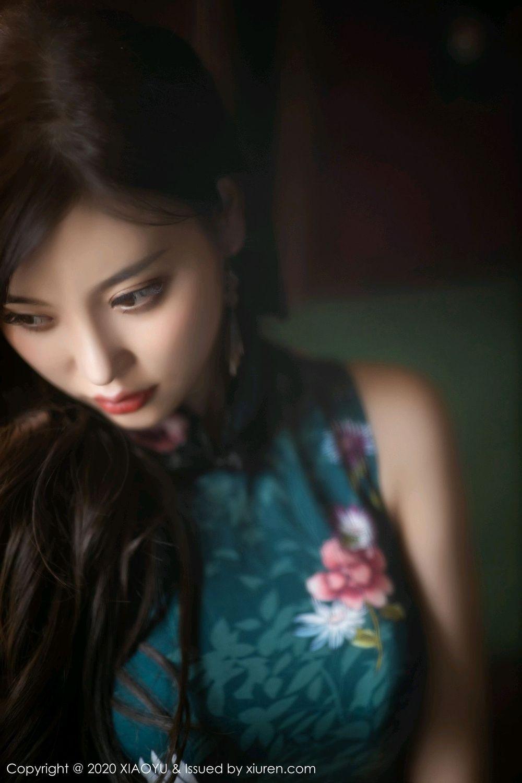 [XiaoYu] Vol.247 Yang Chen Chen 28P, Black Silk, Cheongsam, XiaoYu, Yang Chen Chen